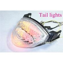 Pièces de moto LED Tail Lumière De Frein Clignotants Pour Suzuki 2005 2006 GSXR 1000 GSX-R1000 Clair