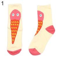 Men Women Cotton Crew Socks Food Pattern Winter Breathable Medium Sock Hosiery 6T9V