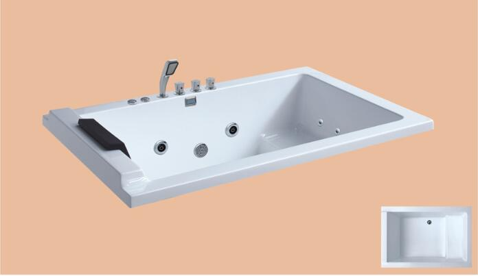 1500mm Drop-in Fiberglass whirlpool Bathtub Acrylic Hydromassage Embedded Surfing Tub NS6021