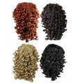 "Curly Synthetic Drawstring Ponytail Hairpiece Clip In Curly Claw Clips Hair Extensions False Hair Extension Ponytail 19"" Tress"