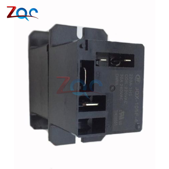 JQX-105F-4-220V-1HS Relay Air Condition Relay AC 220V 30A HF105F 4 Pin