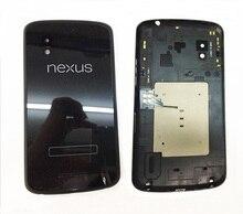 Original cubierta del teléfono móvil para lg optimus e960 google nexus 4 volver cubierta de la puerta posterior de la batería caso + nfc cable