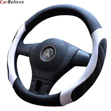 Car Believe car steering wheel cover For mitsubishi lancer x pajero sport outlander xl colt steering wheel accessories недорого