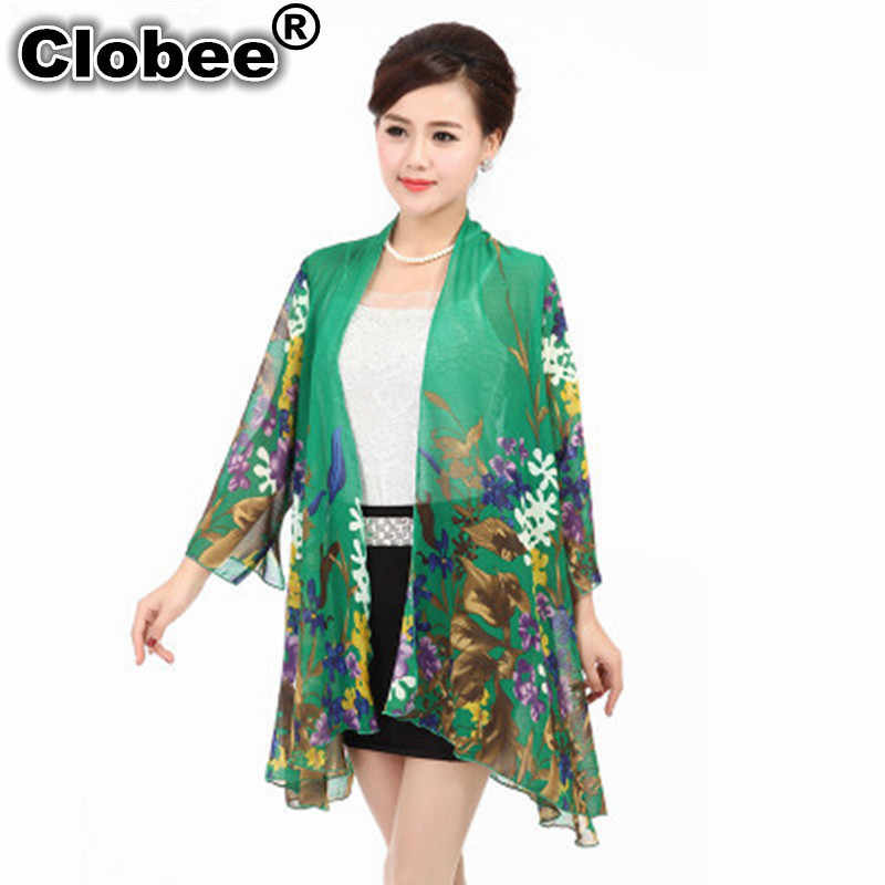 Ethnic Women Shirt Kimono Boho Cardigan Vintage Geometric Print Blouse Loose Shawl Lady Bohemian summer cardigan Plus Size Blusa