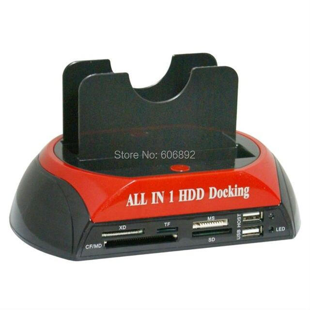 "HDD Docking Station HDD Docking All In 1 HDD Docking Station Dual 2.5"" 3.5"" IDE SATA dock Docking station USB2.0 Card Reader HUB"