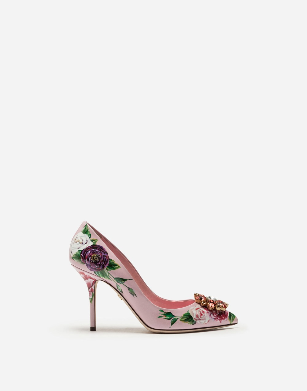 pink Diamond Flower Stiletto High Heels Rhinestones Bling rose flower Wedding Shoes Pointed Toe Luxury Women Pumps rose pink kenzo couleur rose pink