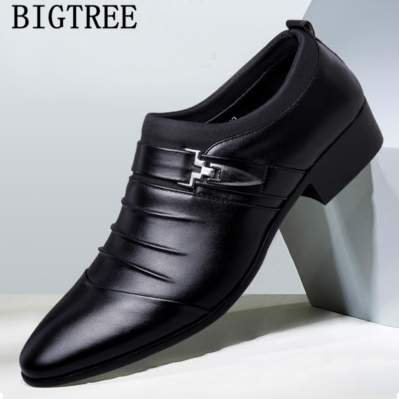 Italian Fashion Elegant Oxford Shoes For Mens Shoes Large Sizes Men Formal Shoes Leather Men Dress Loafers Man Slip On Masculino