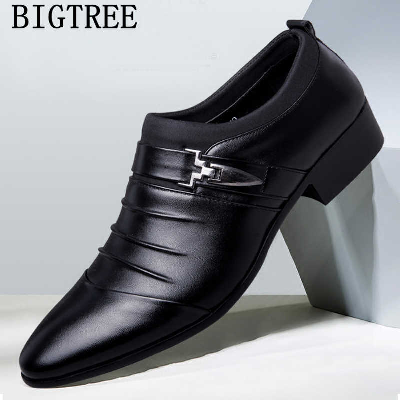 Moda italiana elegante oxford scarpe per le scarpe da uomo di grandi dimensioni uomini formale scarpe in pelle da uomo abito mocassini uomo slip on masculino