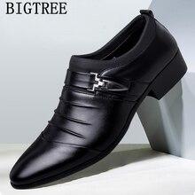 fbc6696e3 الايطالية أزياء أنيقة أكسفورد أحذية للرجال الأحذية أحجام كبيرة الرجال الرسمي  أحذية جلدية الرجال اللباس المتسكعون