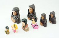 Free Shipping 1 9 1 5 1 6 Scale Figure Pilots Toy Model With Headset Glass