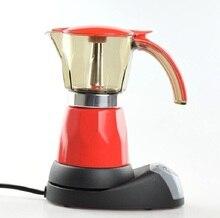 Freies Verschiffen Elektrische Espresso Moka Topf 6 Tassen Rot