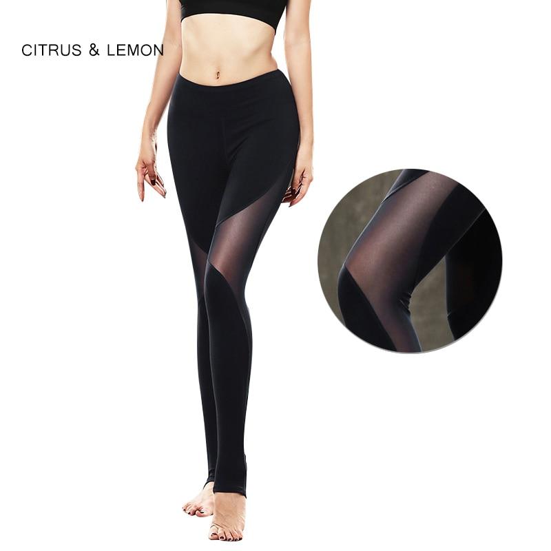 CÍTRICOS y LIMÓN mujeres entrenamiento leggings costura hilo push up ...