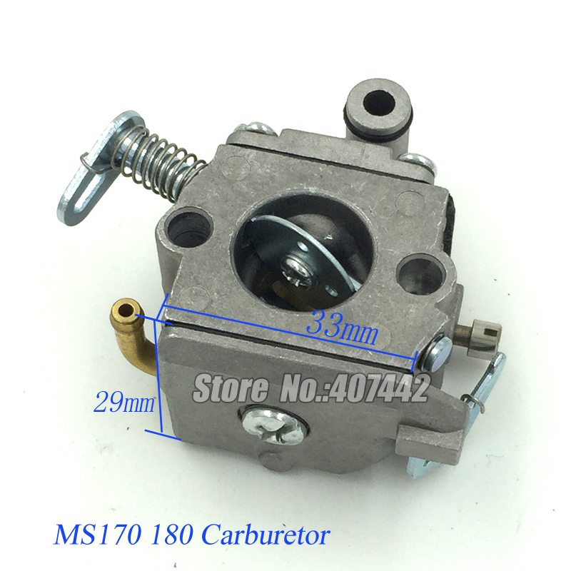 Carburetor fit for STIHL CHAINSAW 017 018 MS170 MS180 38mm cylinder piston rings needle bearing kit for stihl ms180 ms 180 018 chainsaw