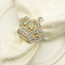 6PCS metal alloy napkin ring European crown banquet party jewelry