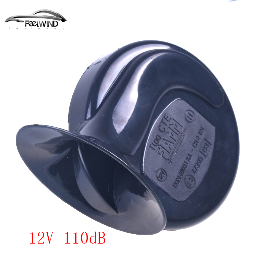 12V Loud Car Auto Truck Electric Vehicle Horn Snail Horn Sound Level 110dB suv 2pcs pair 1 treble 1 bass waterproof super loud snail horn speeker 12v car 510hz 115db alarm sound