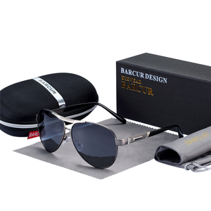 Image 3 - BARCUR Mens Sunglasses Polarized UV400 Protection Travel Driving Male Eyewear Oculos Male Accessories For Men