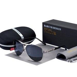 Image 3 - BARCUR degli uomini Occhiali Da Sole Polarizzati UV400 Protezione di Viaggio di Guida Maschio Occhiali da sole Eyewear Oculos Accessori Maschili Per Gli Uomini