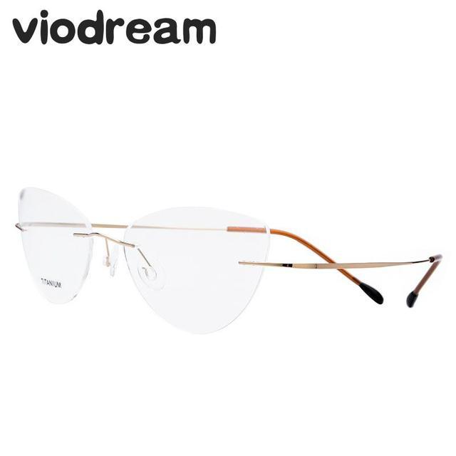 Aliexpress.com : Buy Viodream Super Light Titanium Frame Cat Eye ...