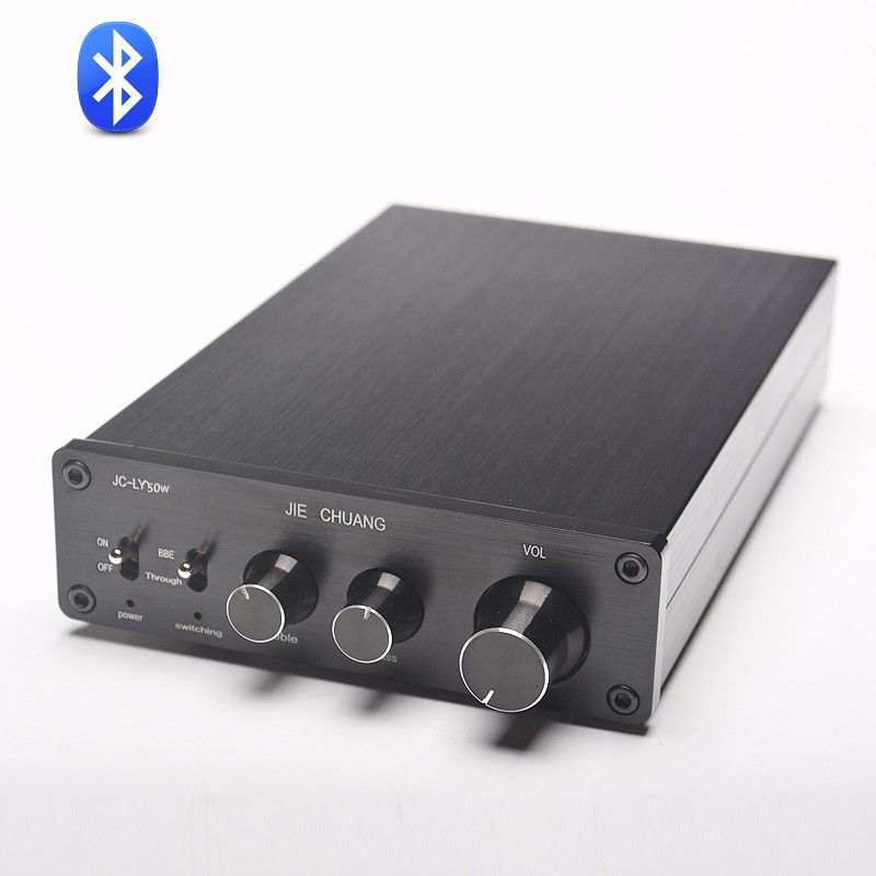 TDA7498E 160W*2 CSR8645 Desktop HIFI audio Bluetooth digital amplifier supports APT-X hifi amplifier digital bluetooth 4 0 audio amp 160w 160w support u disk sd ape fx m 160e white black