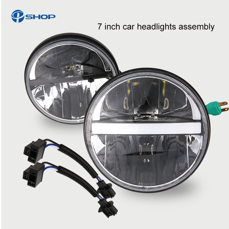 led  7 H4 Halo Headlights with H4 to H13 Adapter For Land Rover 7Inch LED Headlamps with Amber Turn Signal For lada niva 4x4 руководящий насос range rover land rover 4 0 4 6 1999 2002 p38 oem qvb000050