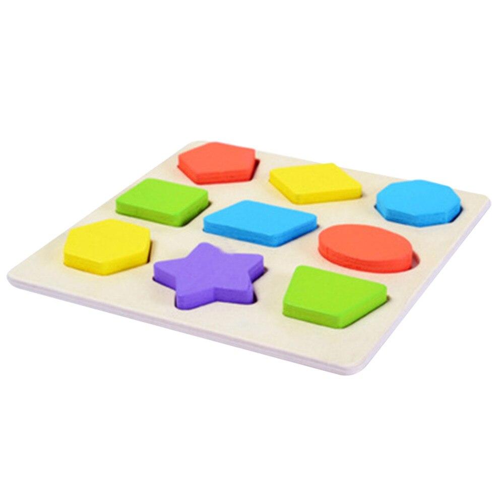 Детские деревянные обучения Геометрия учебный Игрушечные лошадки головоломки детей раннего обучения 3D формы деревянные головоломки Паззл...
