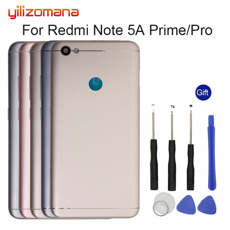 YILIZOMANA Original Replacement Battery Back Cover For Xiaomi Redmi Note 5A Prime/Pro Phone Rear Door Housings Hard Case + Tools