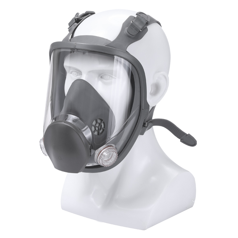 Image 3 - 15 In 1 Full Face Gas Mask Respirator Painting Spraying Organic  Gas Double Carbon Filters Industrial Chemical Safety MaskChemical  Respirators