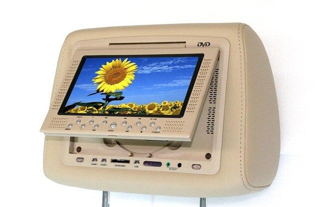 7 дюймов универсальный подголовник DVD USB SD интерфейс для мульти-кнопка игры Монитора в Подголовнике Сиденья