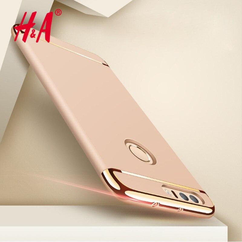 H & a de electrochapado 3 en 1 teléfono case para huawei p9 p9 lite honor 8 coqu