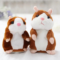 15CM Talking Hamster Mouse Pet Plush Toy Learn To Speak Electric Record Hamster Educational Children Stuffed