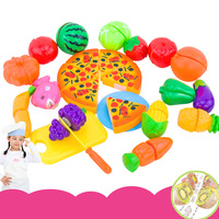 24PCS Children Kitchen Pretend Play Toys Cutting Fruit Vegetable Food Miniature Play Do House Education Toy Gift for Girl Kid
