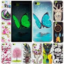 SuliCase For iPhone 5C 5S 6S 8Plus Case Luminous Cartoon Anime Silicon TPU Cover for Iphone X iPhone6 7 7Plus 8 6Plus