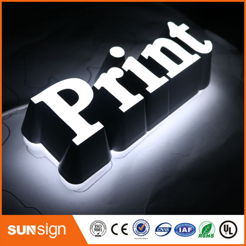 Acrylic Frontlit Led Letter Signs