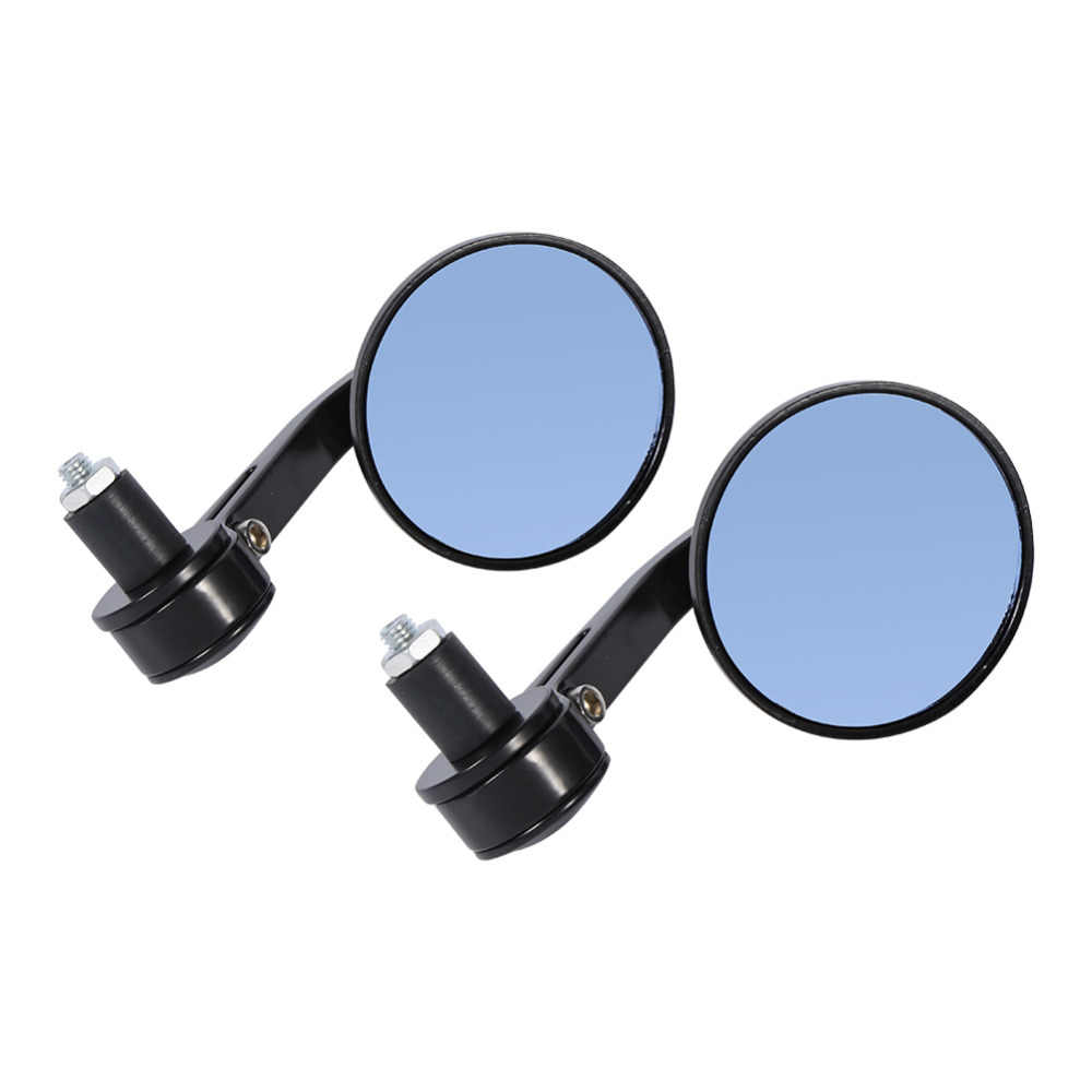 1Pair 7/8 Universal Round Motorcycle Mirrors Rear View Handle Bar End Rearview Side Mirrors New Aluminium Glass motorcycle parts