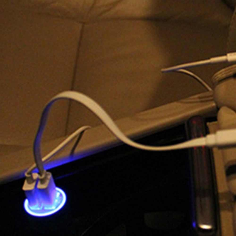 5 colores Mini 2 puertos USB cargador de coche 2.1A Universal doble USB teléfono móvil adaptador de carga para teléfono móvil