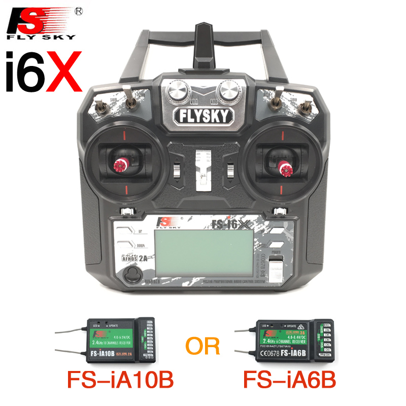 Flysky FS i6X FS I6X 10CH 2.4G RC Transmitter Controller with iA10B iA6B A8S X6B Receiver For RC Helicopter Multi rotor drone-in Parts & Accessories from Toys & Hobbies