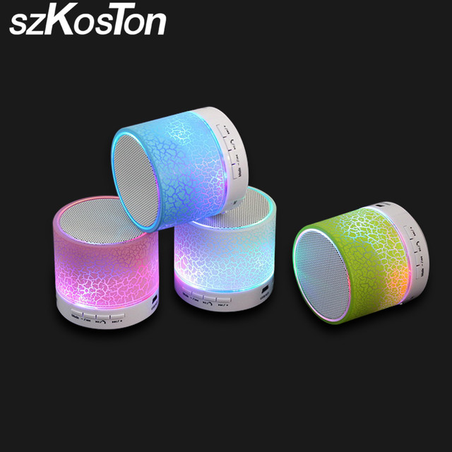 LED MINI Bluetooth Speaker Portable Wireless hands free Music Speaker Support TF USB Loudspeakers For iPhone &xiaomi as a gift