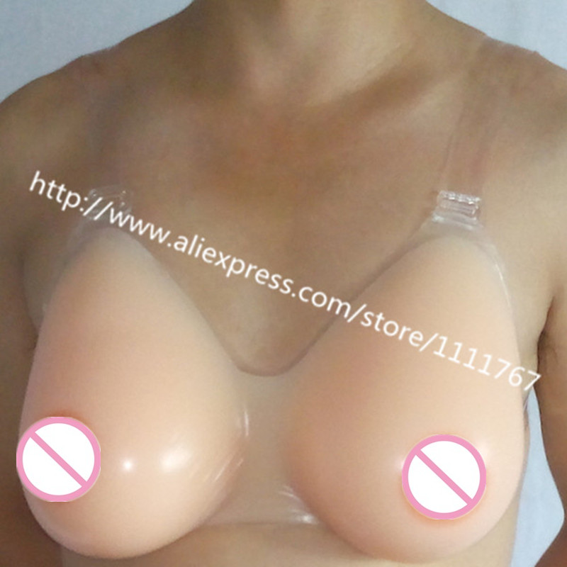 Drop Shipping 1200g/pair size 38D/40C water Drop shape Silicone Mastectomy Breast Form Bra/gel bra breast