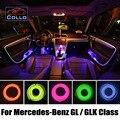 Гибкий Неон Холодный Свет/9 М EL Провода Для Мерседес Для Benz GL Class X164 X166/GLK Class X204/Консоль Автомобиля Декоративные газа