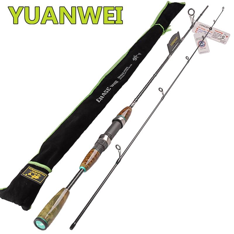 YUANWEI 2Sec Canne à pêche filature 1.98 m 2.1 m UL: 2-8g L: 3-12g Canne à leurre en carbone Canne à filature Canne A pêche Pesca support de pêche Olta