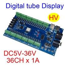 최고의 가격 1 pcs DC5V 36V 36 채널 12 그룹 dmx512 디코더 led 스트립 조명에 대 한 컨트롤러