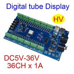 best price 1 pcs DC5V-36V 36 channel 12 groups dmx512 decoder led controller for led strip lights