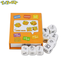 New Telling Story Dice Game Story With Box For English Instructions Family/Parents/Party Funny Imagine Magic Toys basic action story dice puzzle board game telling story family party friends parents with children