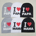 2017 Fashion Summer Baby Hats Knitted Cap Warm Cotton Toddler Baby Girl Boy I LOVE PAPA MAMA Print Kid Newborn Cap 1-3 Years Old
