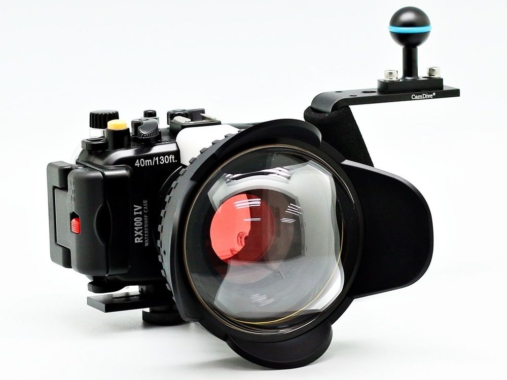 Para Sony DSC RX100 IV 40 m/130ft Meikon Caixa Da Câmera Subaquática de Mergulho Caso Kit (67mm Rodada Dome Mergulho Lidar Com Filtro de Olho de Peixe