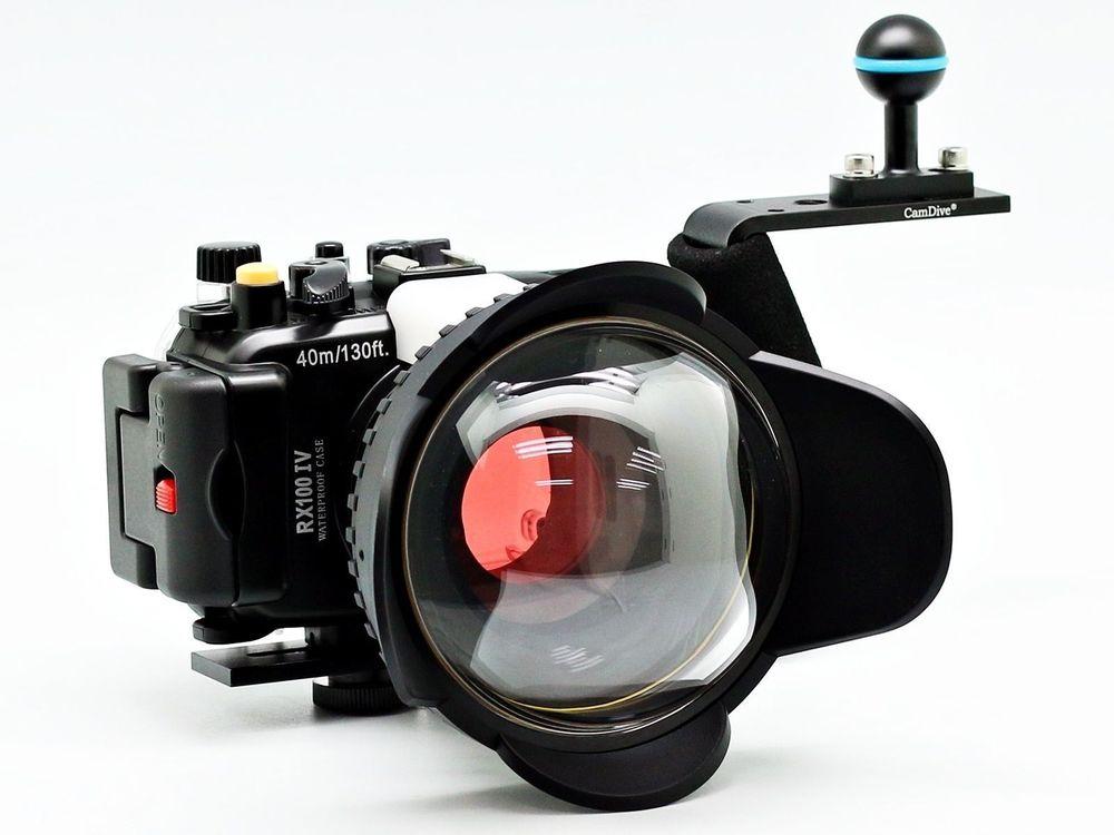 Per Sony DSC RX100 IV 40 m/130ft Meikon Subacquea Camera Housing Caso Diving Kit (67mm Cupola Rotonda Occhio di Pesce Diving Filtro Maniglia