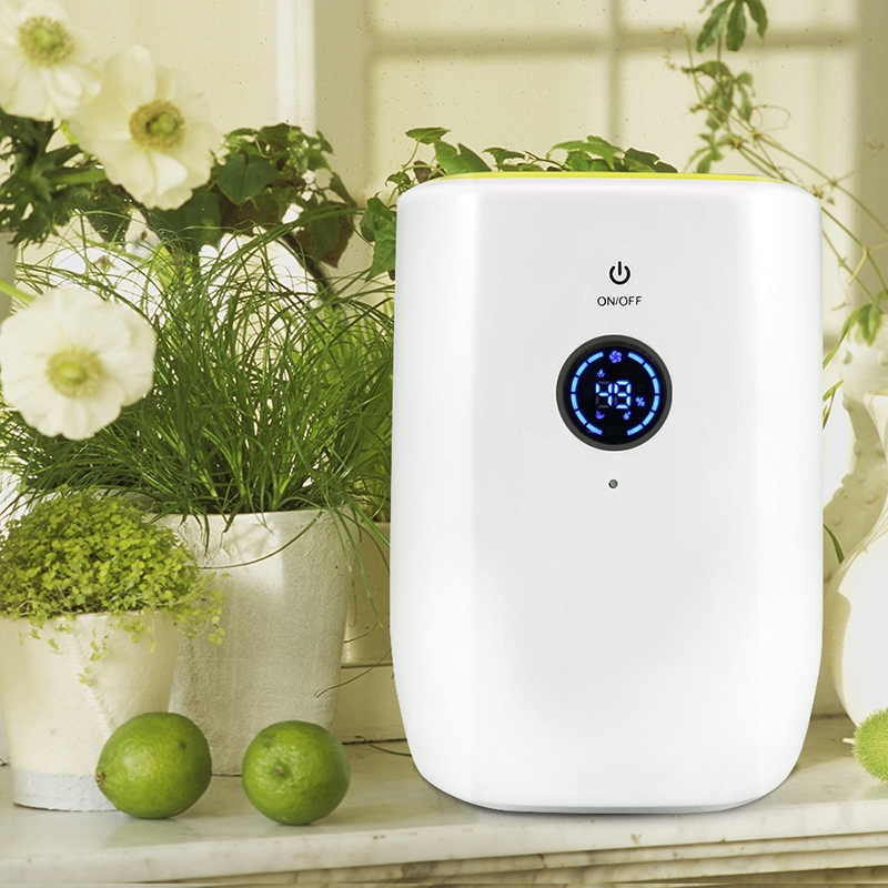 Hot Sale 800Ml Electric Air Dehumidifier For Home Portable Moisture Absorbing Air Dryer With Auto-Off And Led Indicator Air De