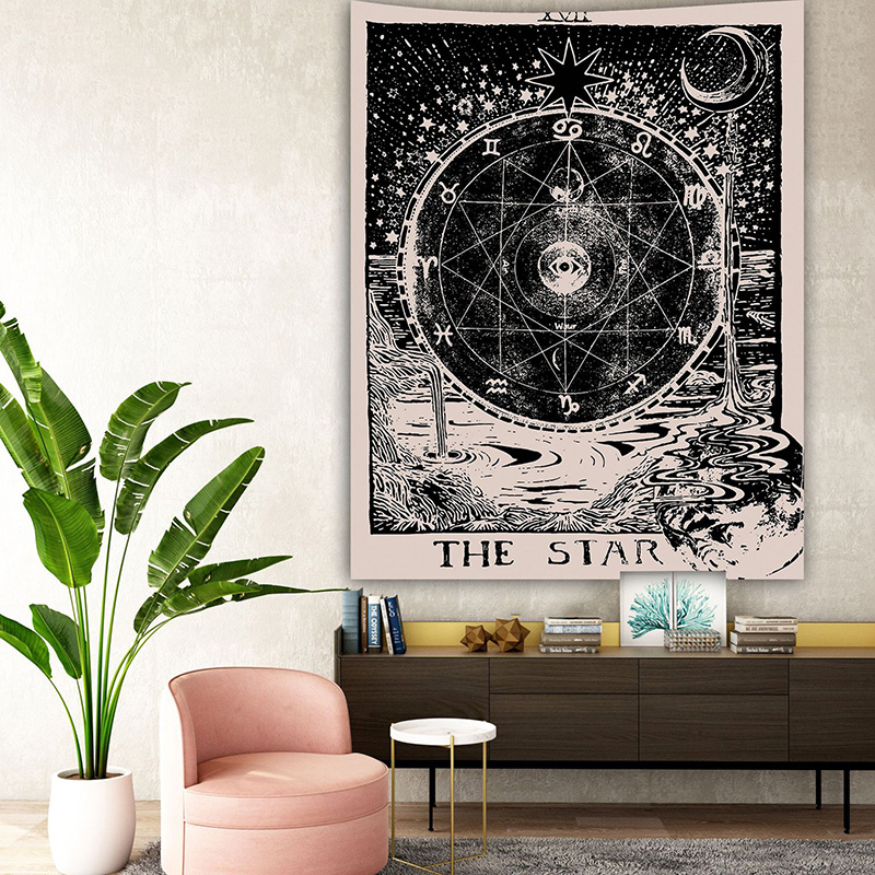 150*100cm Tarot Tablecloth Astrology Sofa Cover Tapestry 23 Kinds Thin Style  Beautiful Pattern Game Tarot Board Game Accessorie