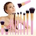 Mejores Nuevas Mujeres Profesionales 11 unids Comestic Neceser Maquillaje Cepillo Conjunto de Cepillo Del Maquillaje herramientas de Belleza M02245