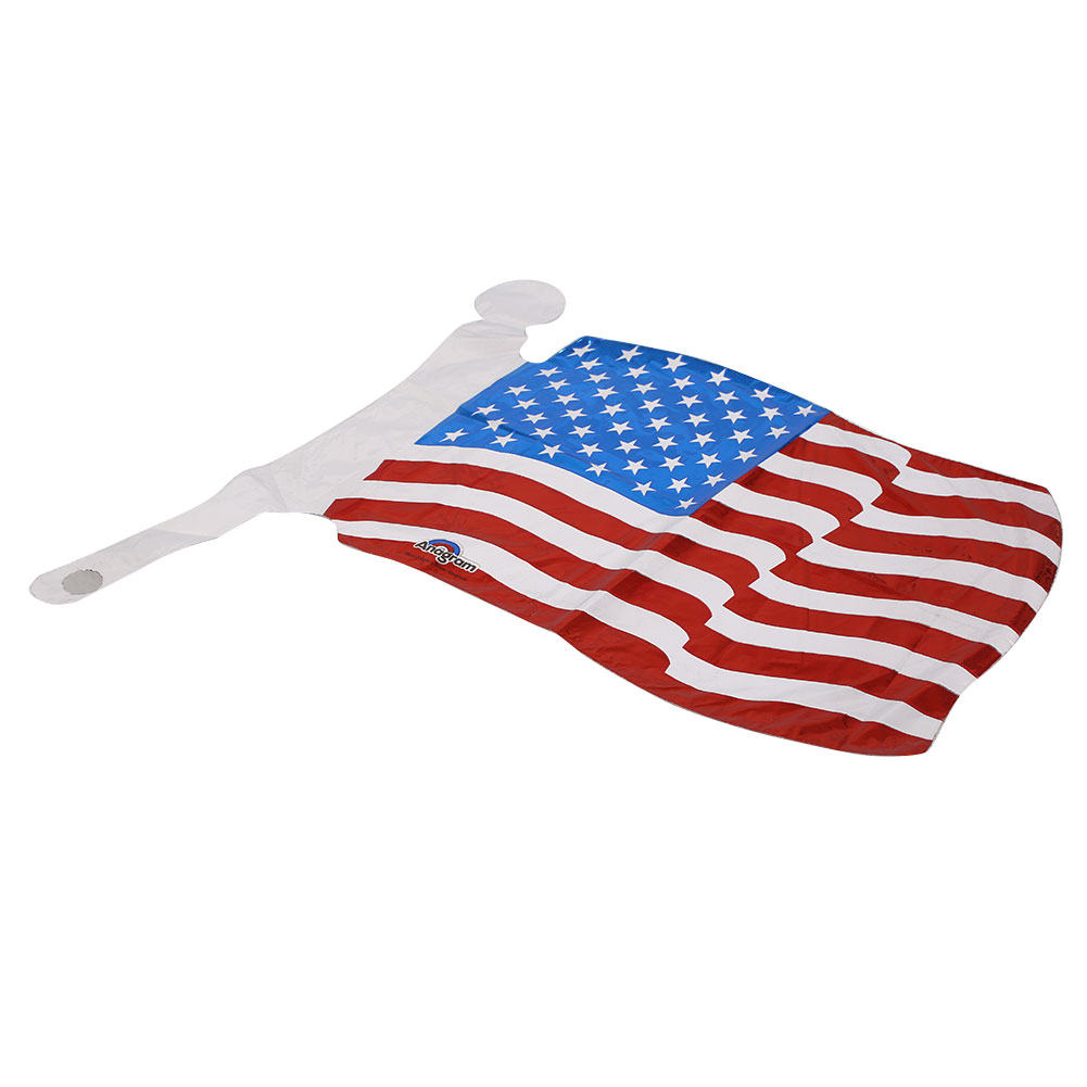 10pcs lot national flag country flag stick flags flag of the united - Aluminum Foil Balloon American Flag Black Stripes Independent Day Memorable Event Party Supplies China